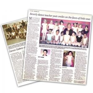 Newspaper articles featuring Dance Gallery Chicago.