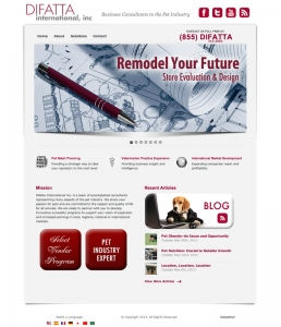 Website design for Difatta International, Inc.